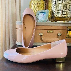 JCREW Lilly ballet metallic heel flats 7 pink